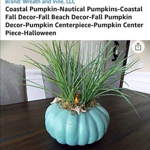 Coastal Pumpkin w/ Tea Light